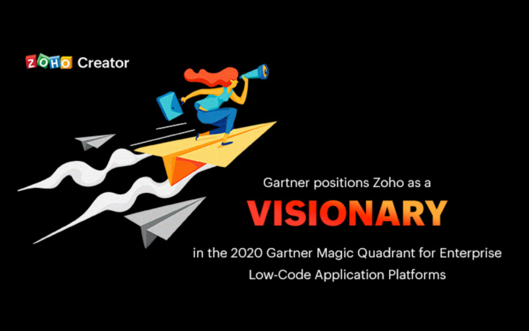 Zoho Named Visionary in Gartner 2020 Magic Quadrant